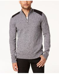 Sean John - Gray Men's Marled Henley Sweater for Men - Lyst