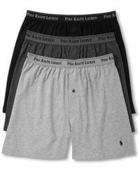 Polo Ralph Lauren Multicolor Underwear, Classic Knit Boxer 3 Pack for men