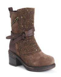 Muk Luks Brown Sharon Boots