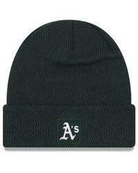 KTZ Green Oakland Athletics Sport Knit Hat for men