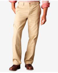 Dockers Natural D3 Classic Fit Comfort Cargo Flat Front Pants for men