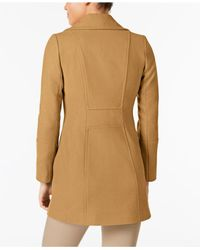Anne Klein - Natural Double-breasted Wool-blend Peacoat - Lyst
