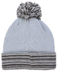 huge selection of 88a08 8ae0f Lyst - Ktz Snow Crown Redux Knit Hat in Blue
