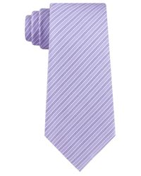 Kenneth Cole Reaction Purple Rail Stripe Slim Tie for men