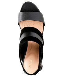 Clarks - Black Laureti Joy Dress Sandals - Lyst