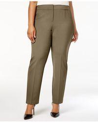 Nine West | Brown Plus Size Career Pants | Lyst