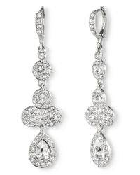 Givenchy - Metallic Pear Crystal Linear Drop Earrings - Lyst