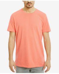 Kenneth Cole Reaction | Orange Men's Solid Cotton T-shirt for Men | Lyst
