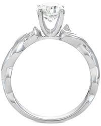 Macy's - Metallic Diamond Twist Engagement Ring (1-1/10 Ct. T.w.) In 14k White Gold - Lyst