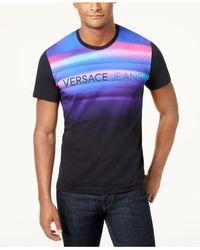 Versace - Black Men's Graphic-print T-shirt for Men - Lyst