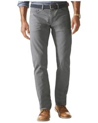 Dockers - Gray Slim-fit Flat-front Jean Cut Khaki Pants for Men - Lyst