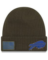 KTZ Green Buffalo Bills Salute To Service Cuff Knit Hat for men