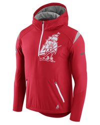 Lyst - Nike New England Patriots Lightweight Fly Rush Jacket in Red ... 0fc457e63