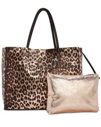 Betsey Johnson - Brown In A Flash Shopper Tote With Pouch - Lyst