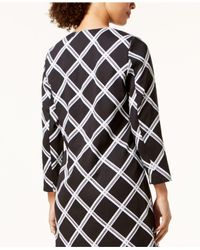 Alfani - Black Printed A-line Jacket, Created For Macy's - Lyst