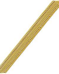 Macy's - Metallic Woven Mesh Bracelet In 14k Gold - Lyst