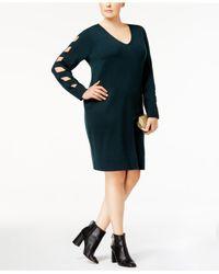 Love Scarlett Green Plus Size Cutout Sweater Dress
