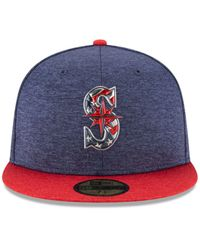 KTZ - Blue Authentic Collection Stars & Stripes 59fifty Cap for Men - Lyst