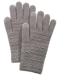 Steve Madden - Gray Cable-knit Itouch Gloves - Lyst