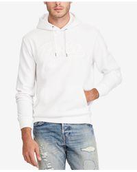 Polo Ralph Lauren White Men's Double-knit Hoodie for men