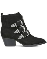 Carlos By Carlos Santana - Black Vance Round Toe Canvas Ankle Boot - Lyst