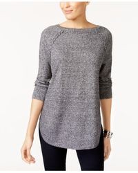 Style & Co. - Multicolor Laced-seam Tunic Sweater - Lyst