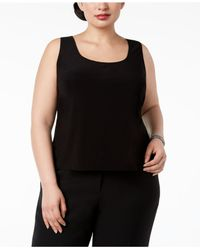 Alex Evenings - Black Plus Size Embroidered Jacket & Top - Lyst