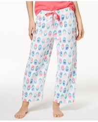 Charter Club - Blue Soft Cotton Printed Pajama Pants, Created For Macy's - Lyst