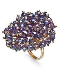 INC International Concepts - Purple I.n.c. Gold-tone Shaky Bead Statement Ring, Created For Macy's - Lyst