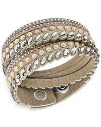 Swarovski Multicolor Stainless Steel Slake Pulse Crystal Wrap Bracelet
