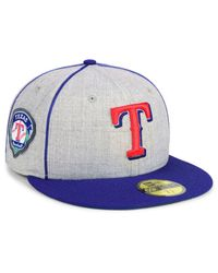 official photos f4830 dc2f1 Men s Gray Texas Rangers Stache 59fifty Fitted Cap