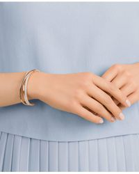 Swarovski Metallic Rose Gold-tone Crisscross Crystal Cuff Bracelet