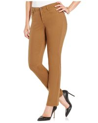 Style & Co. - Brown Petite Slim-fit Tummy-control, Colored Wash - Lyst