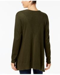 Style & Co.   Green Mixed-knit Open Cardigan   Lyst
