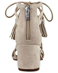 Marc Fisher - Natural Rayz Lace-up Sandals - Lyst