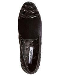 Steve Madden - Black Men's Clarity Studded Smoking Loafers for Men - Lyst