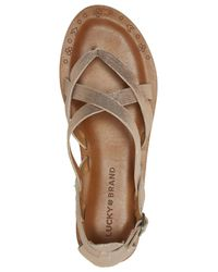 Lucky Brand Pink Ainsley Flat Sandals