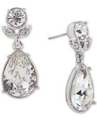 Givenchy - Metallic Teardrop Crystal Drop Earrings - Lyst