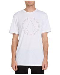 Volcom White Off Pin Logo T-shirt for men