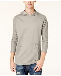 American Rag - Gray Men's French Terry Funnel-neck Hoodie for Men - Lyst