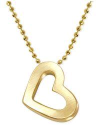 Alex Woo - Metallic Heart Pendant Necklace In 14k Gold - Lyst