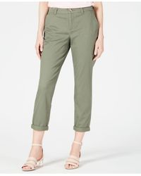 Maison Jules Green Slim Ankle Pants, Created For Macy's