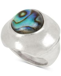 Robert Lee Morris Metallic Silver-tone & Stone Statement Ring