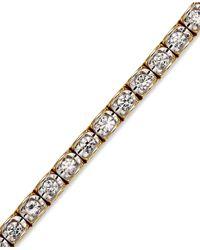 Macy's - Metallic Diamond Bracelet In 14k Gold (2 Ct. T.w.) - Lyst