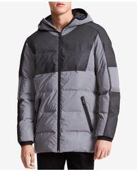 Calvin Klein Black Men's Reflective Hooded Puffer Jacket for men