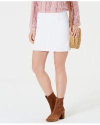 Style & Co. Multicolor Petite Pull-on Frayed-hem Skort, Created For Macy's