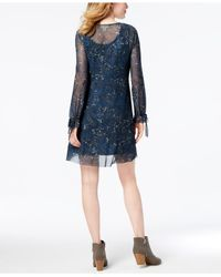 Style & Co. - Blue Printed Empire-waist Dress Available In Regular & Petite Sizes, Created For Macy's - Lyst