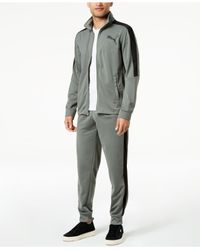 PUMA - Gray Contrast Track Jacket for Men - Lyst