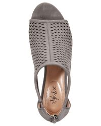 Style & Co. - Gray Haddiee Peep-toe Ankle Shooties - Lyst
