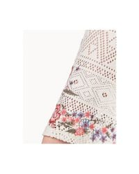Style & Co. - White Petite Lace-up Embroidered Top, Created For Macy's - Lyst